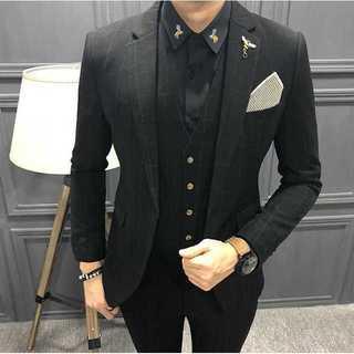 セットアップ 無地 スーツメンズ 紳士 スーツジャケット 着痩せzb380(セットアップ)