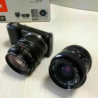ソニー(SONY)のソニーミラーレスSONY NEX -3/リコーRIKENON レンズ 2本セット(ミラーレス一眼)