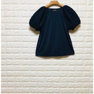 ドゥロワー(Drawer)のドゥロワー パフスリーブ 紺色(シャツ/ブラウス(半袖/袖なし))