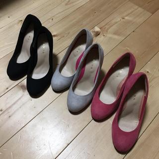 ランダ(RANDA)のRANDA♡  パンプス 21.5  グレー 黒(ハイヒール/パンプス)