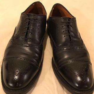 オールデン(Alden)のalden 革靴 10 ブラック 高級 カーフ(ドレス/ビジネス)