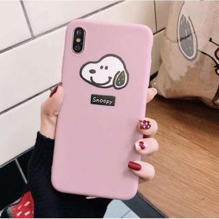 ピンク☆チャーリーブラウン スヌーピー iphoneケース(iPhoneケース)