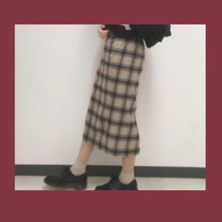 GU チェックタイトスカート(その他)