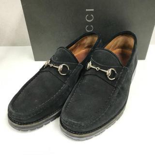 グッチ(Gucci)の⭐︎セール⭐︎ グッチ ホースビット スエード ローファー 靴 黒 GUCCI(ドレス/ビジネス)