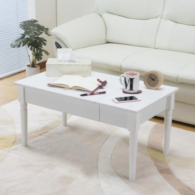 SALEコスメテーブル ローテーブル ドレッサースタイル 鏡台 コスメ インテリア/住まい/日用品の収納家具(ドレッサー/鏡台)の商品写真
