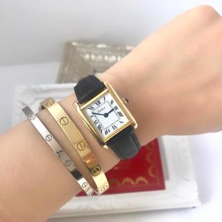 best website dbd1e 55107 美品✨カルティエ Cartier ミニマストタンク 手巻き腕時計 レディースわ