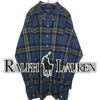 ラルフローレン(Ralph Lauren)のRALPH LAUREN ラルフローレン 着丈93 超ビッグサイズ!! シャツ(シャツ)