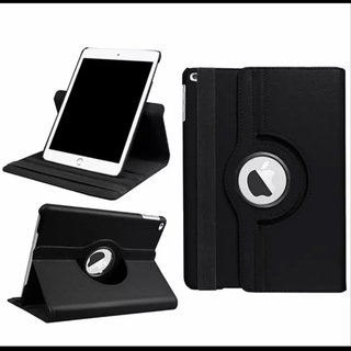 iPad5 iPad6 【ブラック】 360度回転 タブレットケース☆(iPadケース)