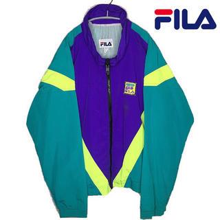 フィラ(FILA)のFILA 90s ビッグシルエット レア色 ナイロンジャケット(ナイロンジャケット)