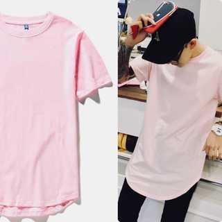 レイヤード✨ Tシャツ メンズ ストリート ピンク(Tシャツ/カットソー(半袖/袖なし))