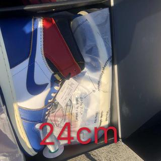 ナイキ(NIKE)のunion jordan 1 24cm(スニーカー)