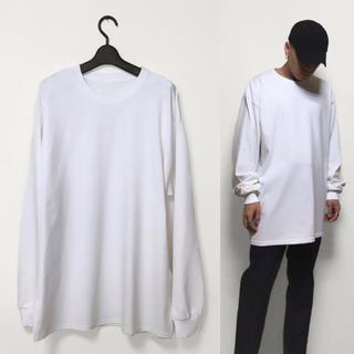 オーバーサイズ ビッグロンT ビッグサイズ ビッグシルエット ホワイト(Tシャツ/カットソー(七分/長袖))