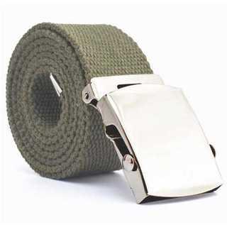 アーミーグリーン ガチャベルト GIベルト 125cm 綿100% トレンド(ベルト)