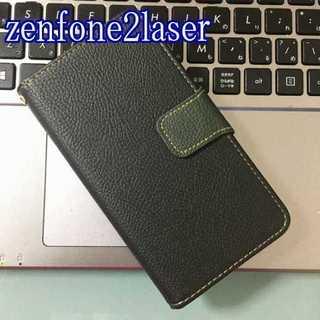 zenfone2laser ブラック×モスグリーン ツートンカラー(Androidケース)