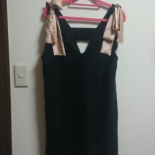 トランテアンソンドゥモード(31 Sons de mode)の☆31 Sons de mode☆ 肩リボンワンピース☆サロペットスカート(ひざ丈ワンピース)