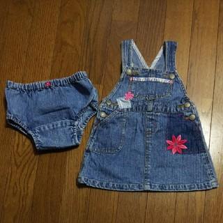 ベビーギャップ(babyGAP)のベビーギャップ/baby GAP*デニムのジャンパースカート*90㎝ぐらい(ワンピース)