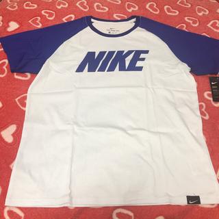 ナイキ(NIKE)の【新品・未使用】Nike ナイキ Tシャツ 白/青 XXL(Tシャツ/カットソー(半袖/袖なし))