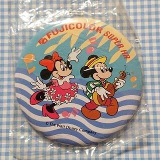 ディズニー(Disney)のミッキー ミニー 缶バッジ フジカラー ディズニー 昭和 レトロ(キャラクターグッズ)