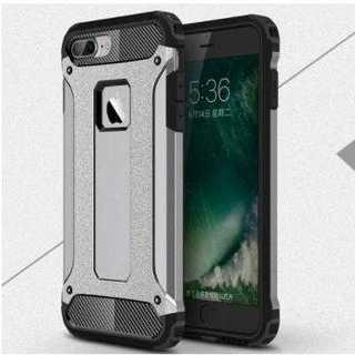 スマホケース グレー iPhone 衝撃吸収 防塵 2層構造 滑り防止 保護(iPhoneケース)