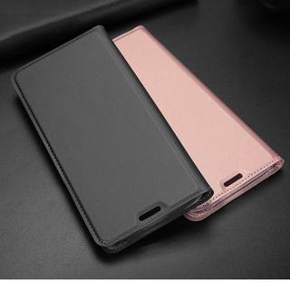 Galaxy S8 S8+ グレー スリム 薄型 シンプル 手帳型ケース(Androidケース)