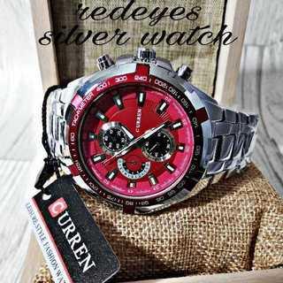 【海外限定】CarrenRed4410 メンズ 腕時計 ウォッチ レッド(腕時計(アナログ))