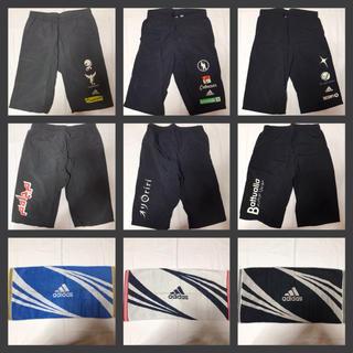 アディダス(adidas)の送料無料【adidas】アディダス ハーフパンツ Sサイズ 3色セット タオル付(ショートパンツ)