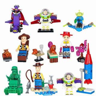 トイストーリー Toy Story LEGO レゴ 互換 ミニフィグ 8体セット(キャラクターグッズ)
