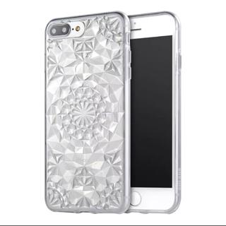 iPhone7 iPhone8 キラキラ ダイヤカット クリアケース(iPhoneケース)