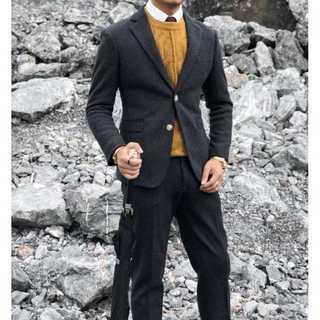 メンズスーツセットアップ大人気エリート定番ビジネス司会者スリム紳士服 OT045(セットアップ)