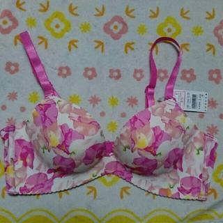 エメフィール(aimer feel)の🌺aimerfeel❤美胸ブラ「ピンク系」カラフル花柄⭐size:B75 新品(ブラ)