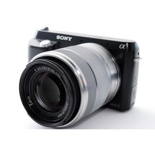 ソニー(SONY)の★液晶が回転して簡単自撮り★ソニー NEX-F3 ブラック レンズキット(ミラーレス一眼)