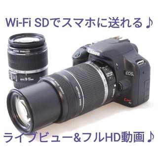 キヤノン(Canon)の◆Wi-Fi仕様◆GWに大活躍のWズームセット◆Canon Kiss X3(デジタル一眼)