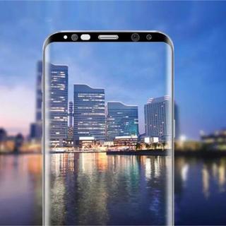 Galaxy S8 【ブラック】ガラスフィルム(保護フィルム)