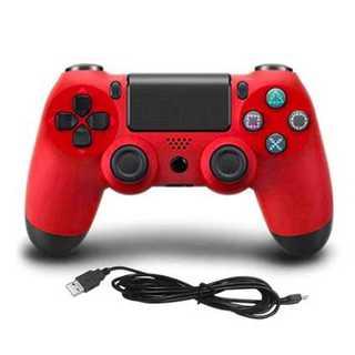【即購入可】PS3 PS4 有線ゲームコントローラー レッド(その他)