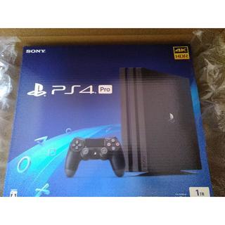 プレイステーション4(PlayStation4)の【新品未開封】PS4 Pro ブラック 1TB(家庭用ゲーム本体)