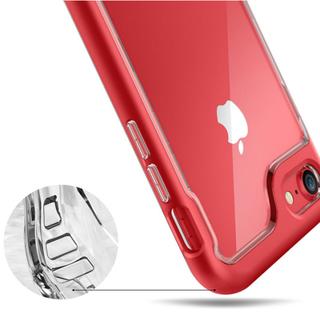 耐衝撃しっかり吸収 クリア お得 iPhoneケース レッド(iPhoneケース)