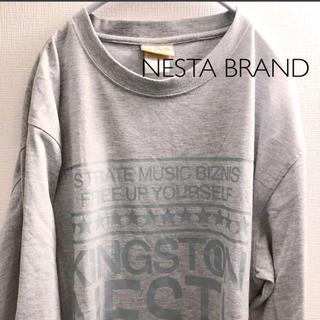 ネスタブランド(NESTA BRAND)のNESTA BRAND ロンT グレー L ネスタブランド(Tシャツ/カットソー(七分/長袖))