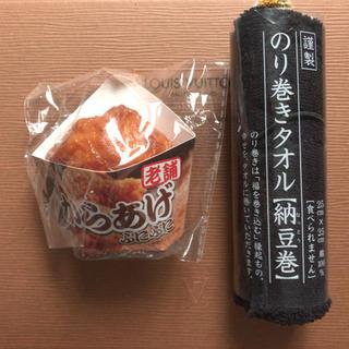 のり巻きタオル(納豆巻)、ぷにぷにからあげスクイーズセット(その他)