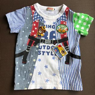 ミキハウス(mikihouse)のミキハウス  だまし絵Tシャツ  リュック  半袖Tシャツ  100cm(Tシャツ/カットソー)