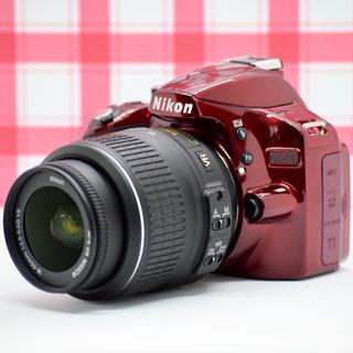 ニコン(Nikon)の❣️動画も撮れる❣️Nikon D3200 希少 メタリック レッド ❣️(デジタル一眼)