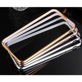 iPhoneXデザイン 鍍金アルミバンパー メタル おしゃれ 耐久性 かっこいい(Androidケース)