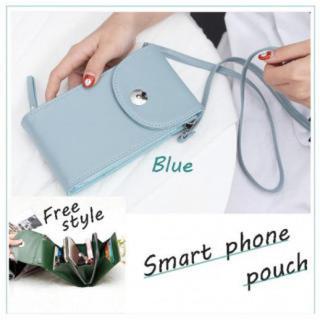 スマホ ポシェット お財布ショルダー カード入れ バッグ コンパクト ミニバッグ(モバイルケース/カバー)