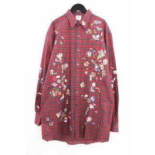 バレンシアガ(Balenciaga)のVETEMENTS 18AW パッチワークシャツ(シャツ)