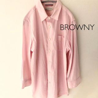 ブラウニー(BROWNY)のBROWNY 七分袖シャツ ピンクM ウィゴー(シャツ)