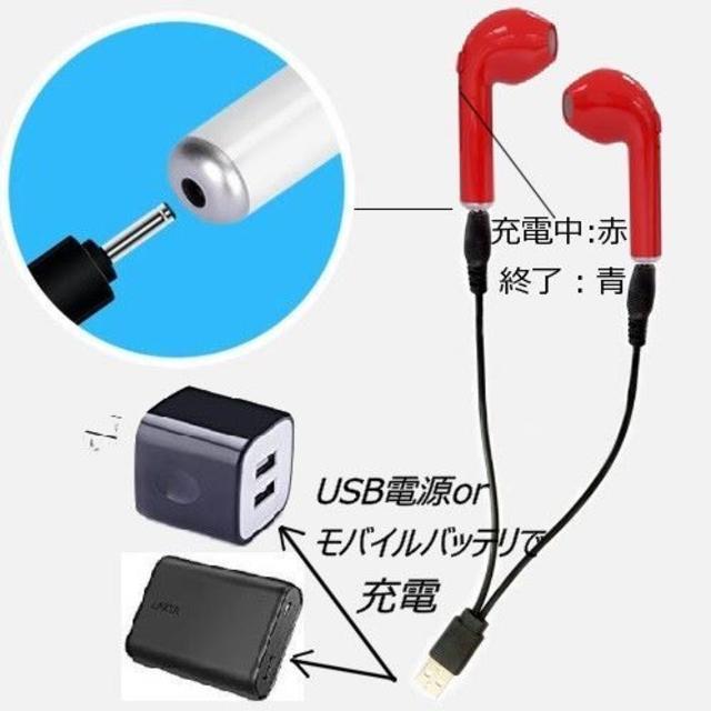 ワイヤレスイヤホン(i7S-TWS赤) スマホ/家電/カメラのオーディオ機器(ヘッドフォン/イヤフォン)の商品写真