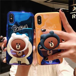 くまさん iPhoneケース 可愛い アイフォンケース スマホグリップ 別売り☆(iPhoneケース)
