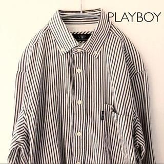 プレイボーイ(PLAYBOY)のVIP PLAYBOY ストライプシャツ Lサイズ(シャツ)