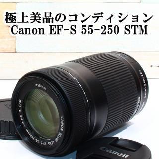 ★極上美品★キャノン EF-S 55-250mm 4-5.6 IS STM(レンズ(ズーム))
