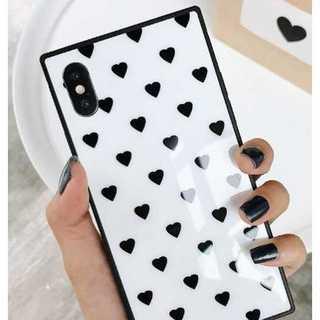 白 ハート柄 iphone8(白 ハート柄 iphone8 iphone7 )(iPhoneケース)