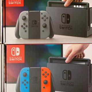 ニンテンドースイッチ(Nintendo Switch)の新品 3台 NINTENDO Switch ブラック2 ネオンブルー1(家庭用ゲーム本体)